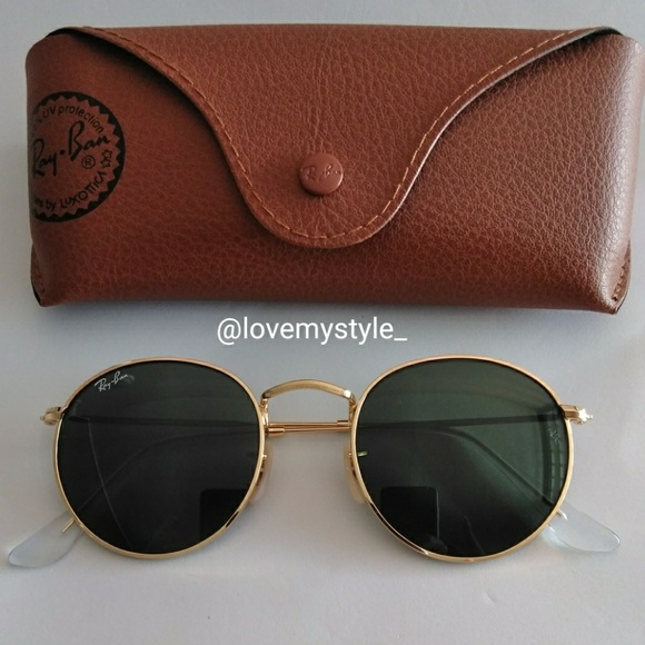 24d6b0273e Ray-Ban Accessories - Ray Ban Round Classic 3447 001 G-15 Matte Gold